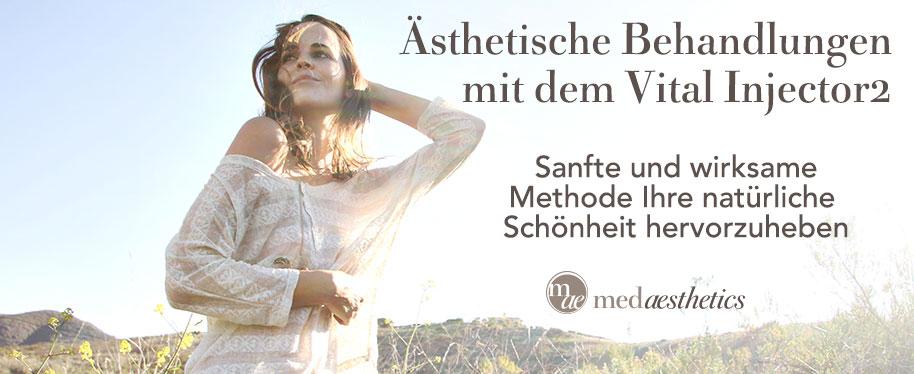 Ästhetische Behandlungen mit dem Vitalinjector2 bei medaesthetics Wien